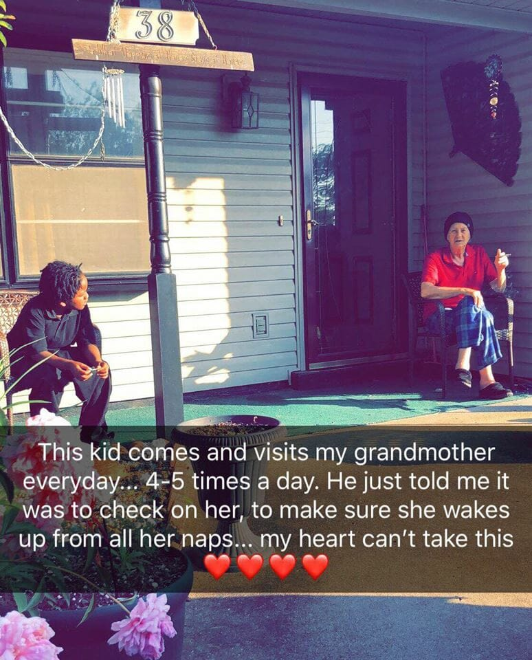 Woman asks neighbor   s son why he visits her grandma 5 times a day: She   ll never forget his answer