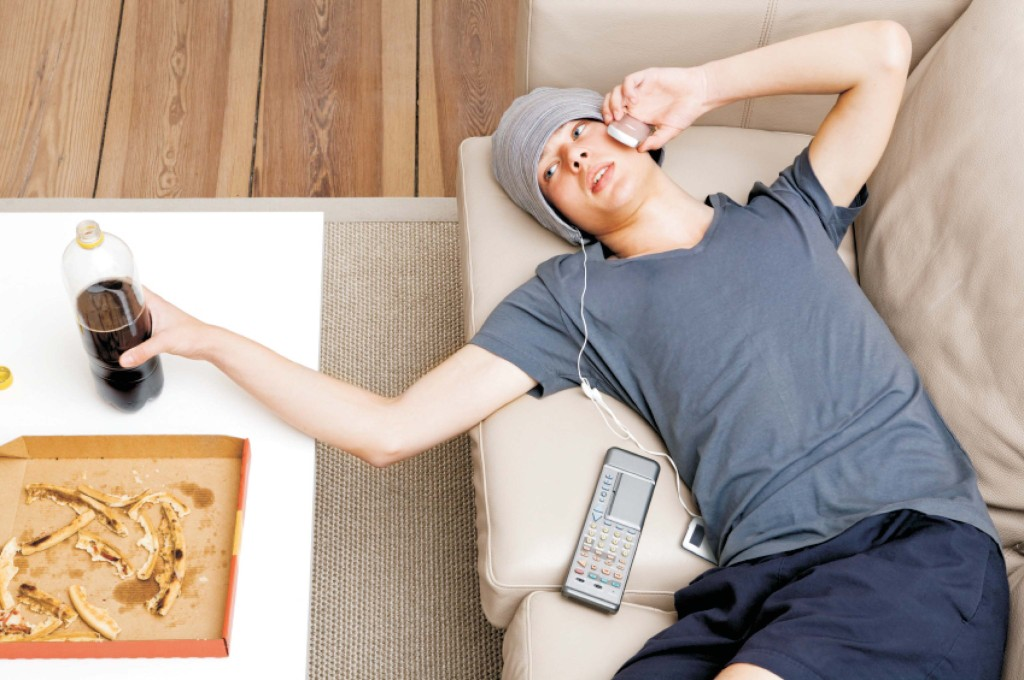 According to the study, Americans become increasingly sedentary