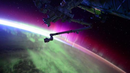 Watch this amazing video of the Aurora Borealis from space