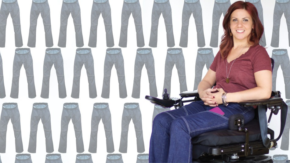 Paralyzed designer creates jeans for women in wheelchairs