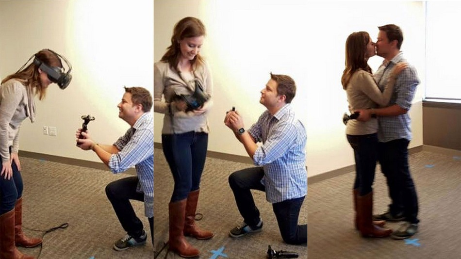 Man Proposes To Girlfriend In Virtual Reality, Brings Real