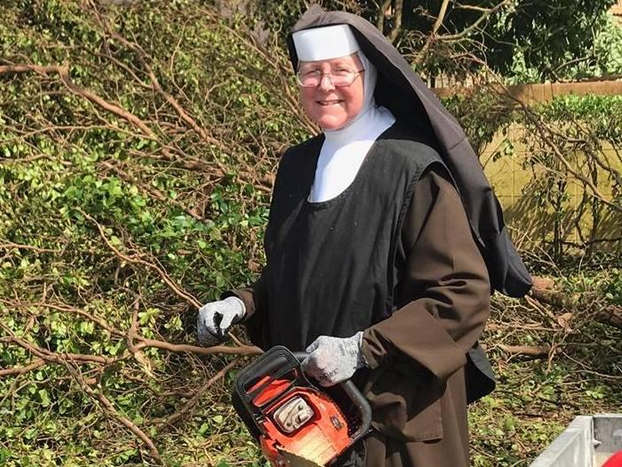 Meet the nun who became a cleaning icon after Hurricane Irma