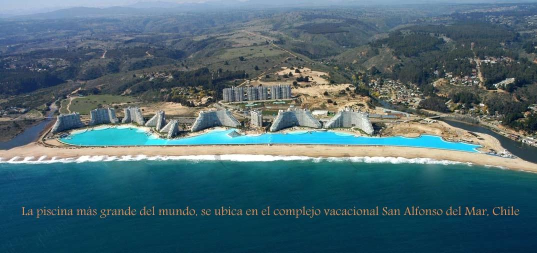 La piscina m s grande del mundo mide m s de un kil metro y for Piscina mas grande del mundo chile