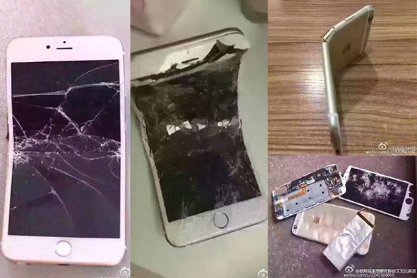 Chinese people are smashing their Iphonps in bizarre display of patriotism