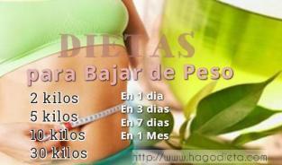 Dieta para bajar de peso rapido en 3 dias en