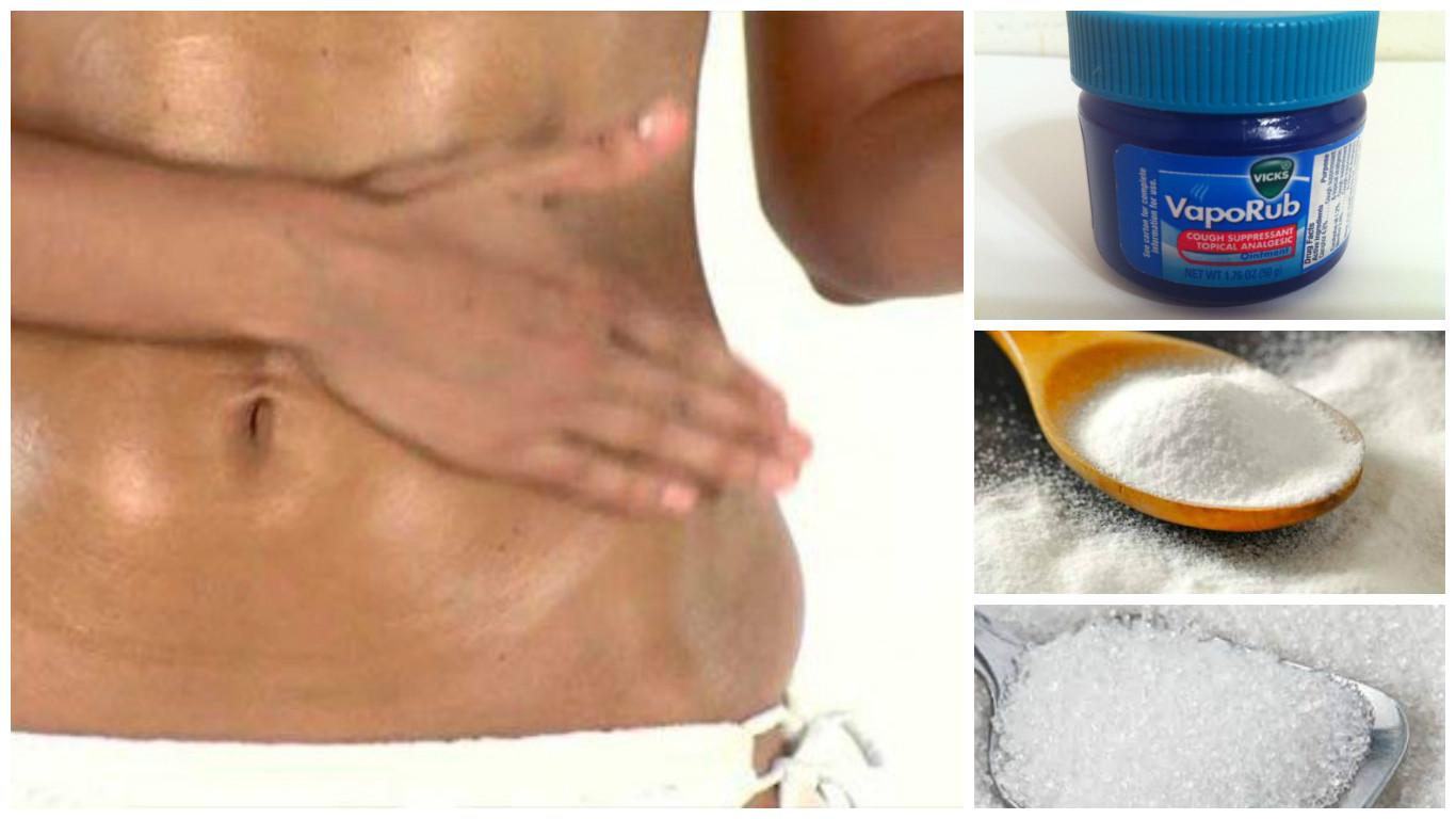 Crema para quemar grasa abdominal con vick vaporub