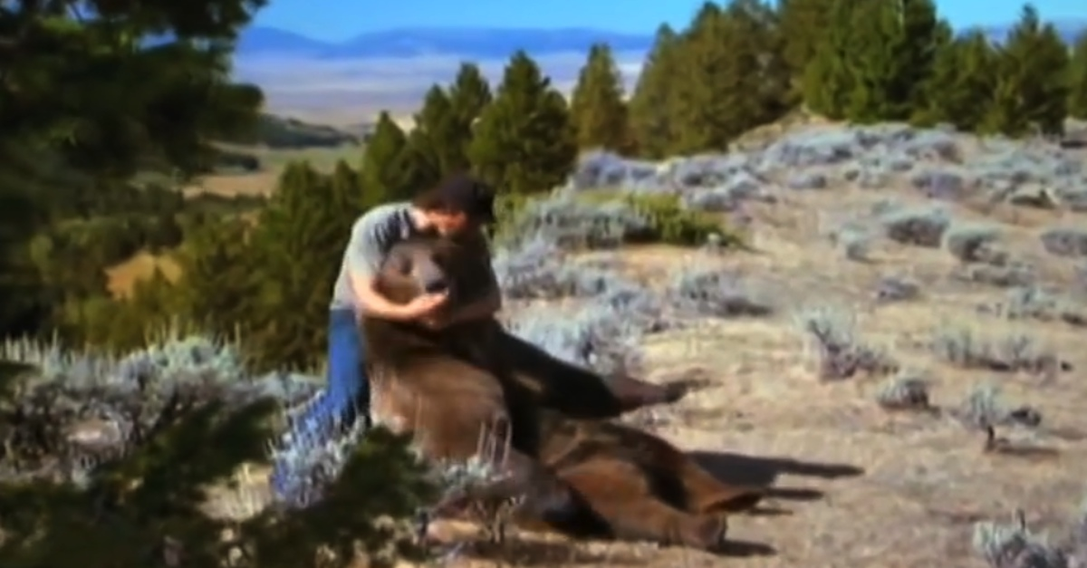Man Finds A Grizzly Bear Cub, Raises It Like His Own Son
