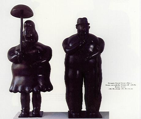 Musicos De Tamayo Y Mujer Con Sombrilla De Fermando Botero En Subasta