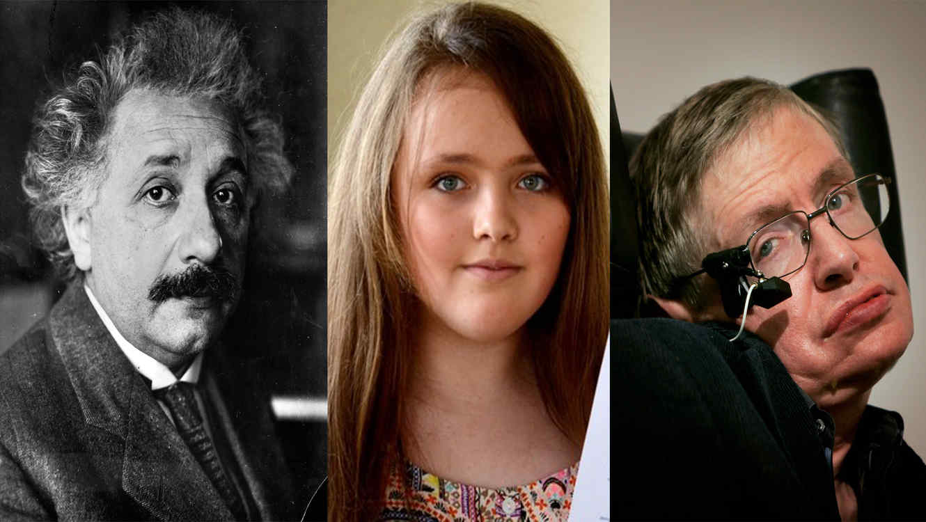 Niña supera coeficiente intelectual de Hawking y Einstein