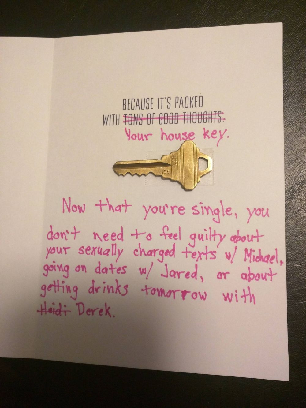 Guy being cheated on gets revenge in a birthday card