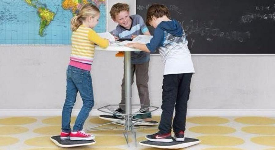 Standing desk for kids basically rewards squirming