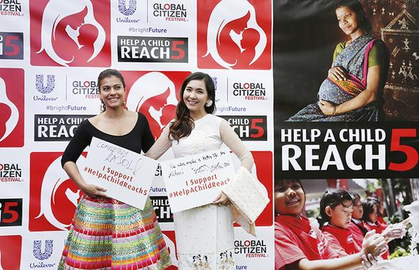 Kajol attends 'Global Citizen Festival'!