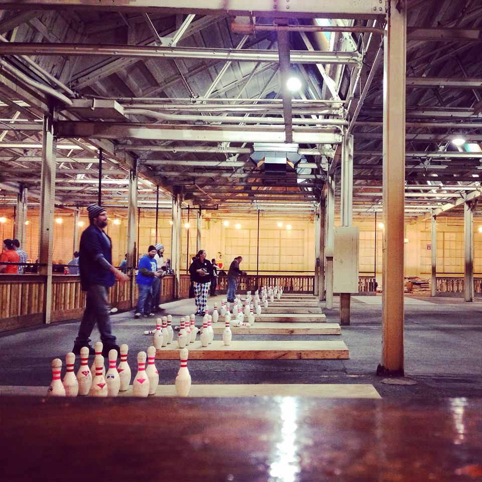 Fowling, a quirky sport that combines football and bowling