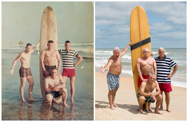 LOOK: 4 Marines Return to Beach to Recreate Photo They Took 50 Years Ago