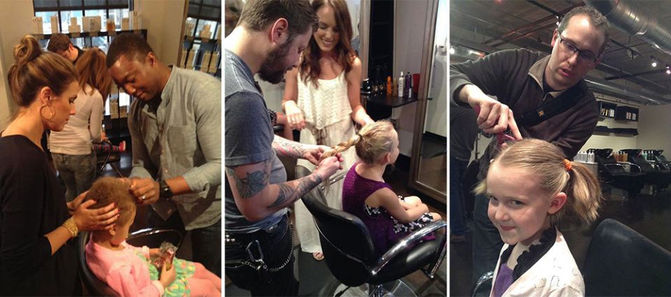 Hair salon teaches dads how to their daughters' hair by offering beer