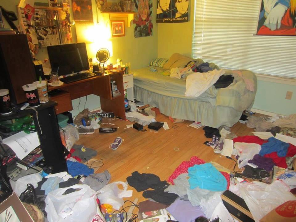 Lo que se esconde detras de una habitacion desordenada - Como limpiar una casa muy sucia ...