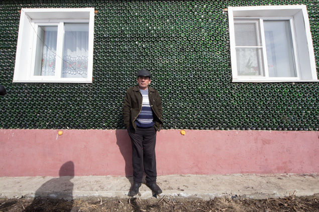 Russian Man Builds House with 12,000 Bottles of Champagne