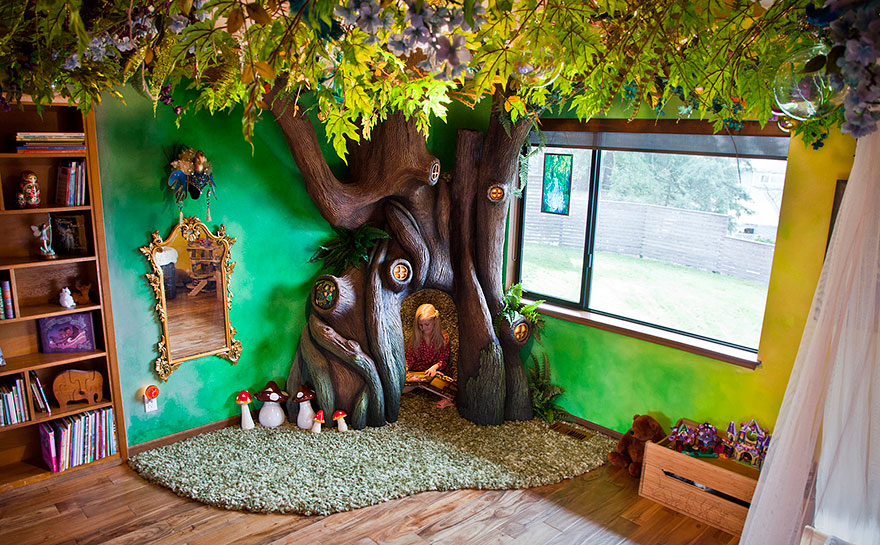 Dad Spends 18 Months Transforming Daughter   s Bedroom Into Fairytale Treehouse