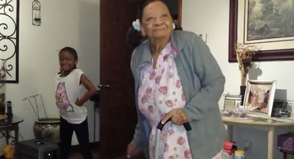 97-year-old great-grandma adorably dances with 8-year-old