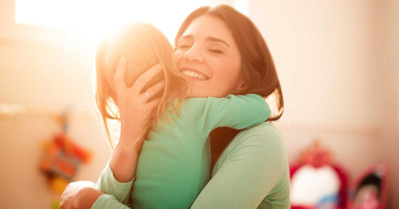 Latest research reveals the more you hug your kids, the smarter they get