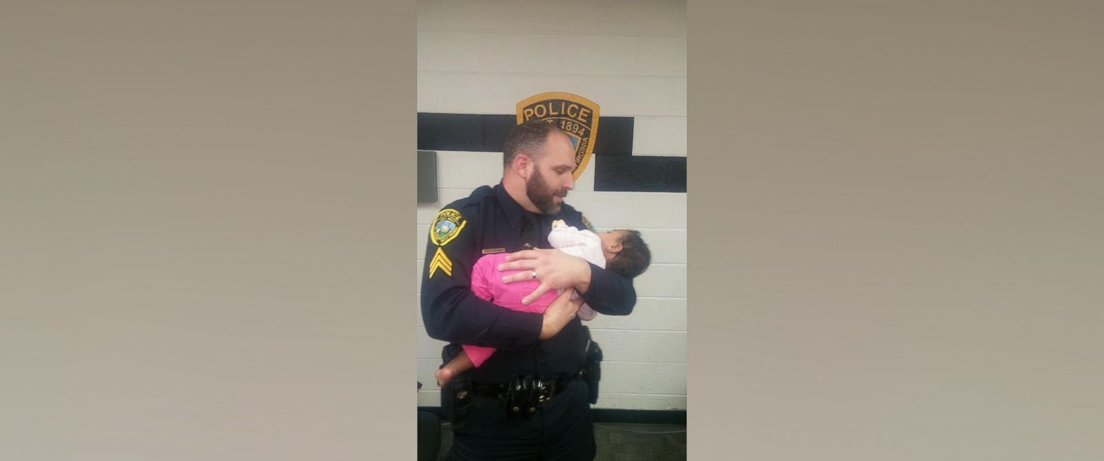 Police Officer Rescues Baby From Grocery Store Bathroom