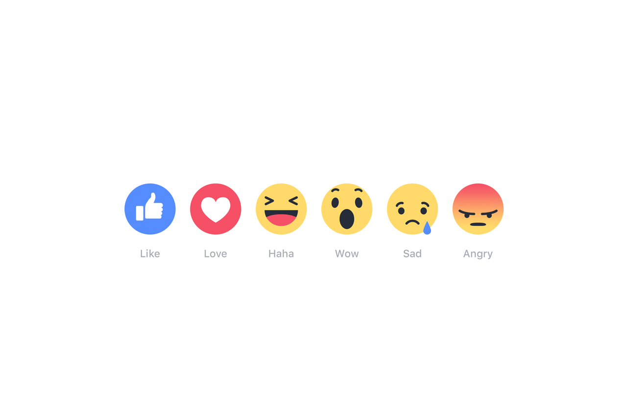 Facebook rolls out expanded Like button reactions around the world