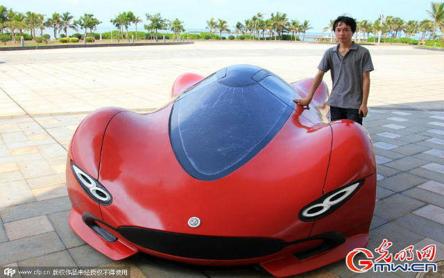 Chinese motorist builds his own futuristic supercar for just $4,800
