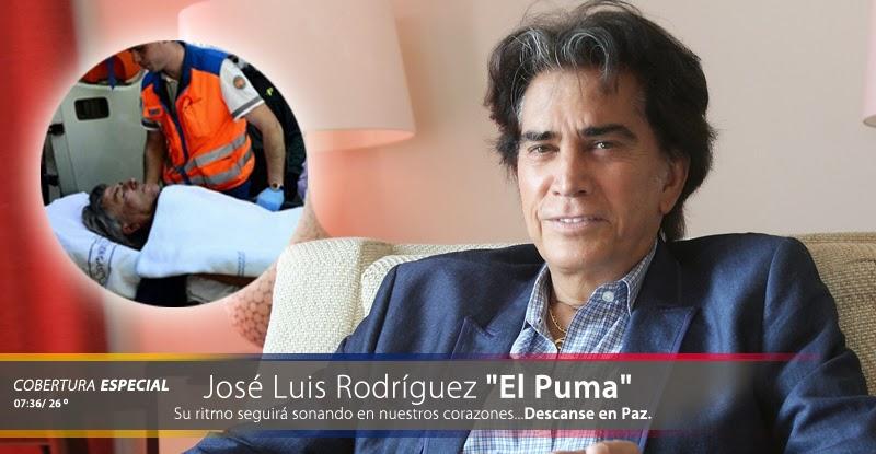 """Fallece el cantante venezolano José Luis Rodríguez """"El Puma"""""""