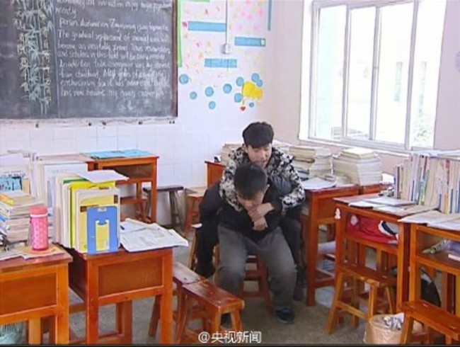School Student Has Carried His Disabled Best Friend To Class For Three Years