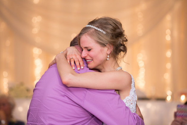 Bride who survived cancer dances with the donor who saved her life