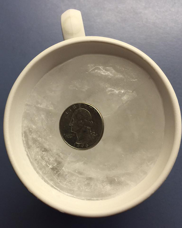 Why you should always put a coin in the freezer before you leave home