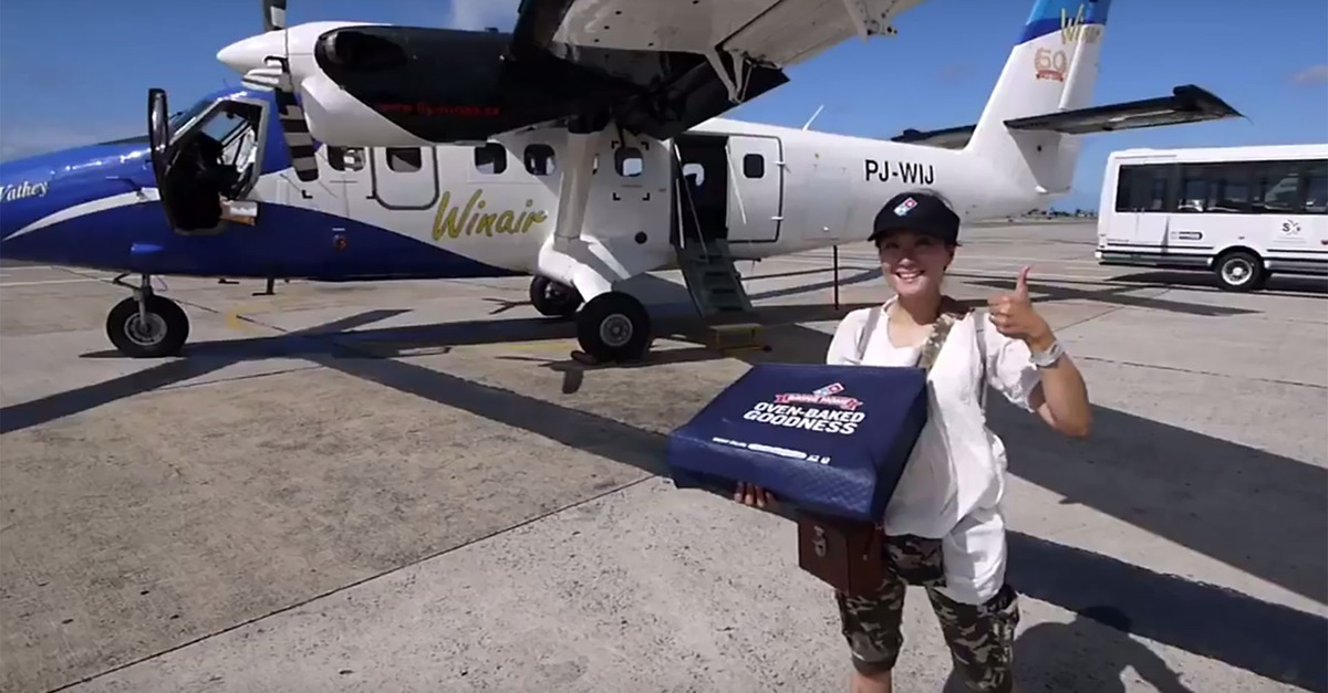 Remote Caribbean islands can now get pizza delivered by plane