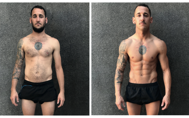 This guy channelled his inner Iron Man to better his body in 8 weeks