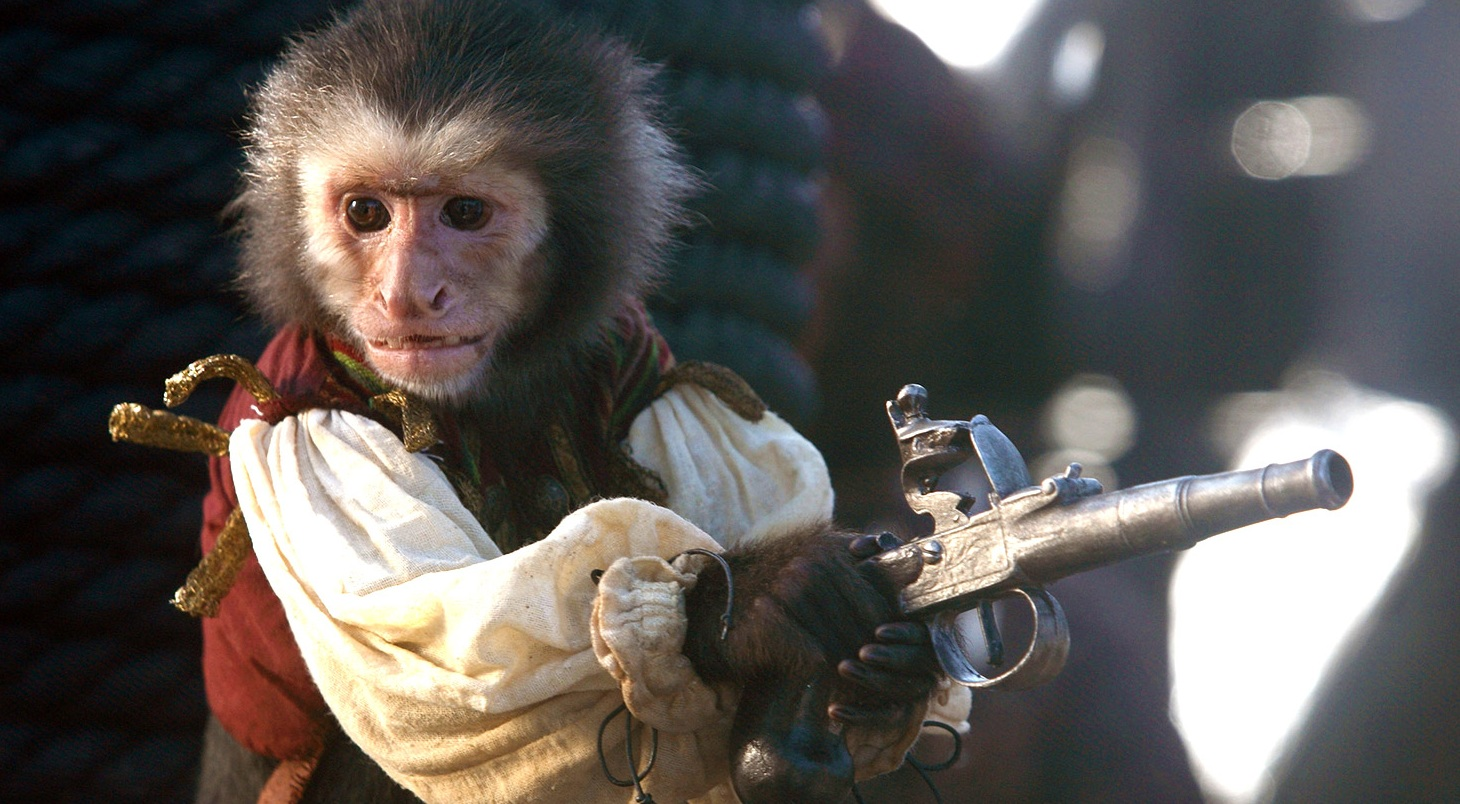 PETA and Pirates of the Caribbean...what happened to the monkey on the set?