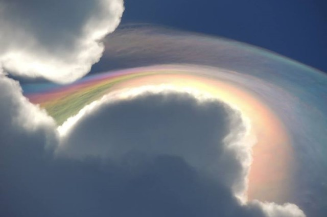 Spectacular Rainbow Cloud Spotted In Jamaican Sky