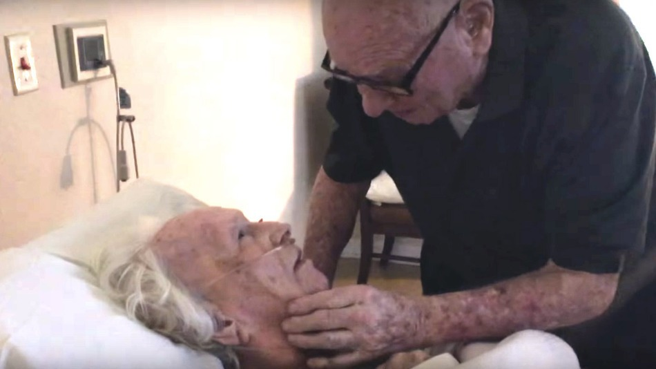 A man singing sweetly to his 93-year-old wife is the only comfort you need
