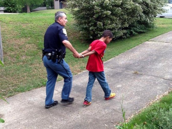 Mom Asks Police to Pretend to Arrest Her Misbehaving 10-Year-Old Son to Teach Him a Lesson