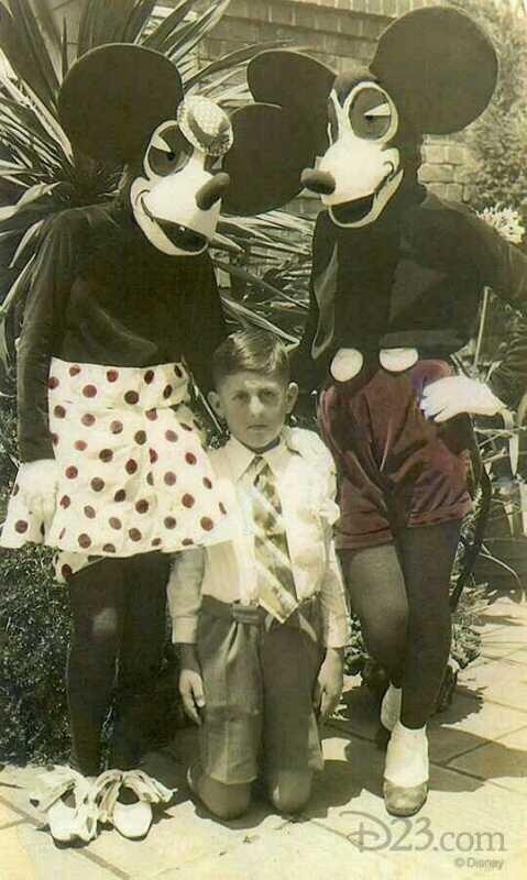 Disfraces de Mickey y Minnie Mouse en 1930