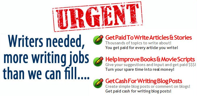 GET PAID WRITING ARTICLE
