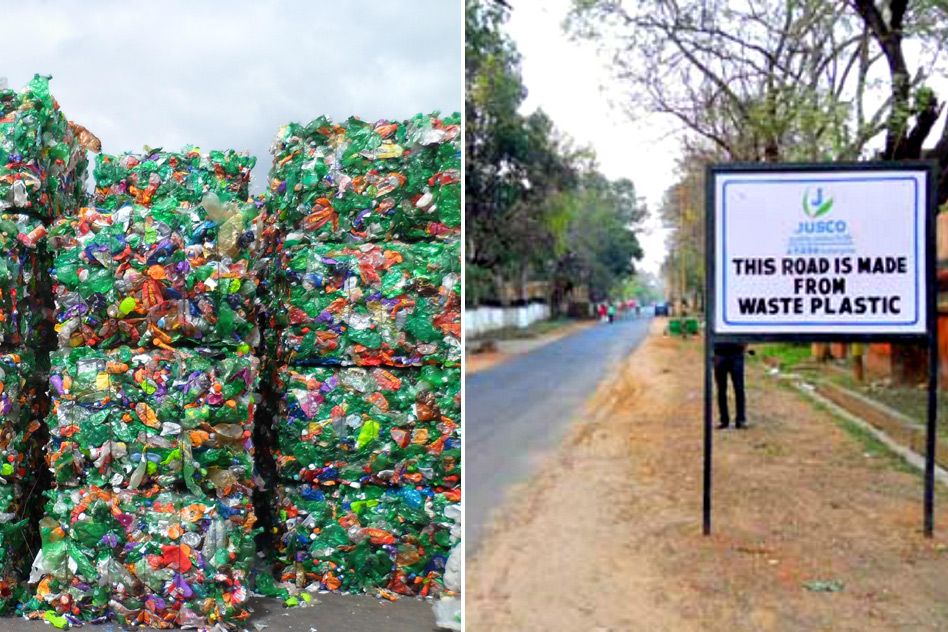 Jamshedpur, a city in Jharkhand, uses plastic waste to make roads