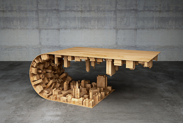 "This Coffee Table is Based on a Scene From ""Inception"""